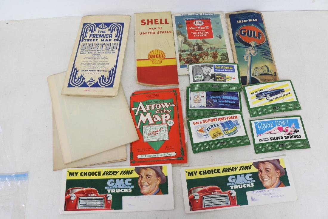 Vintage Auto Advertising and Map Lot