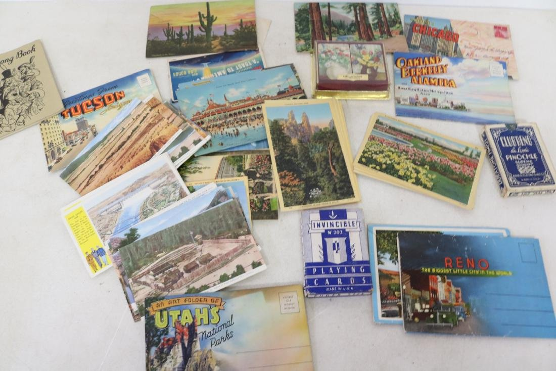 Lot of Vintage Playing Cards & Post Cards