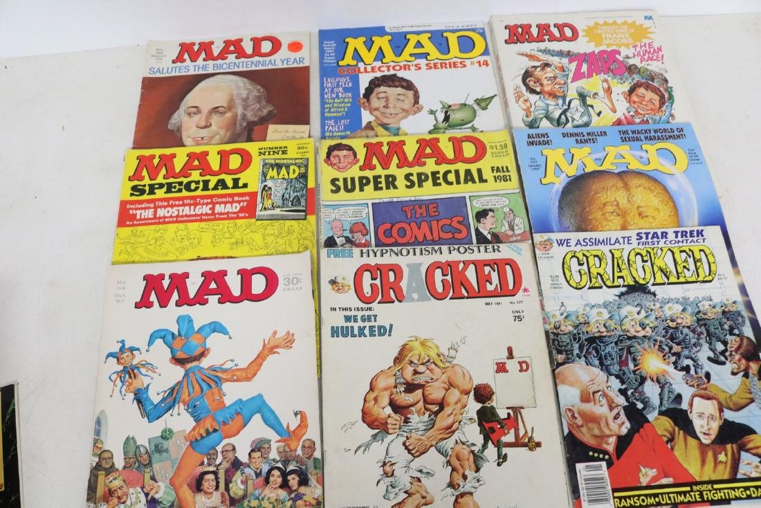 Lot of 9,  1967-1997 Mad& Cracked Magazines