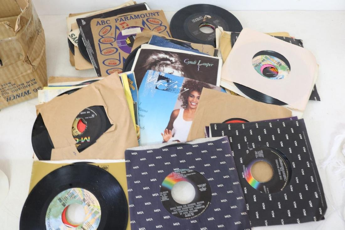Lot of 45 Vintage Vinyl Records, 45's