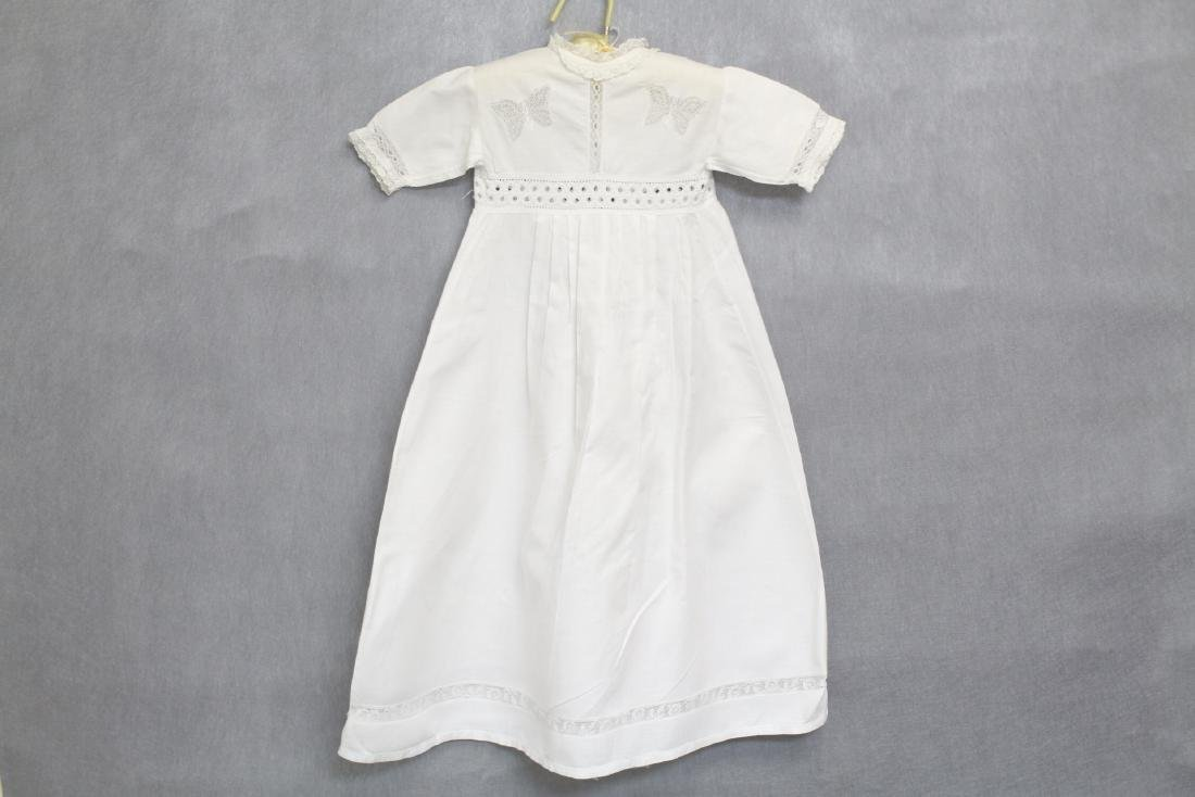 Antique White Butterfly Lace Baby Dress