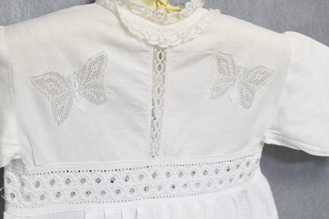 Antique White Butterfly Lace Baby Dress - 2
