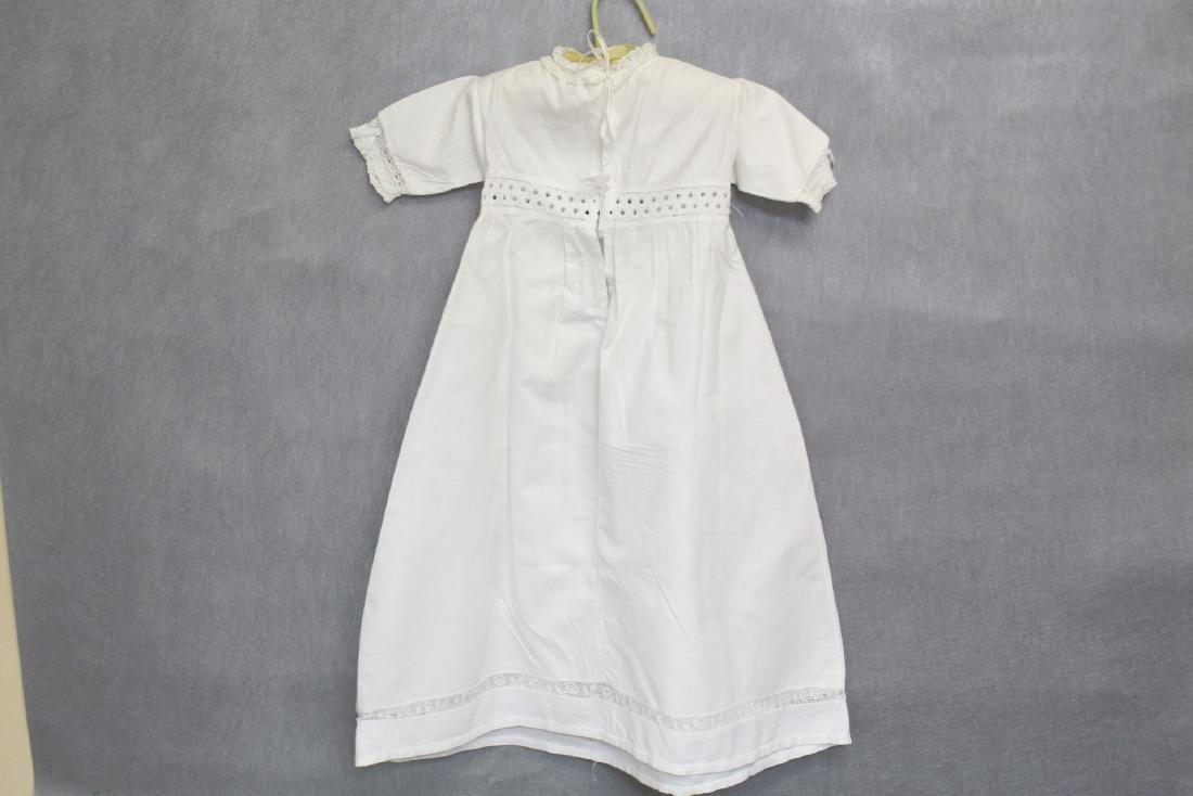 Antique White Butterfly Lace Baby Dress - 3