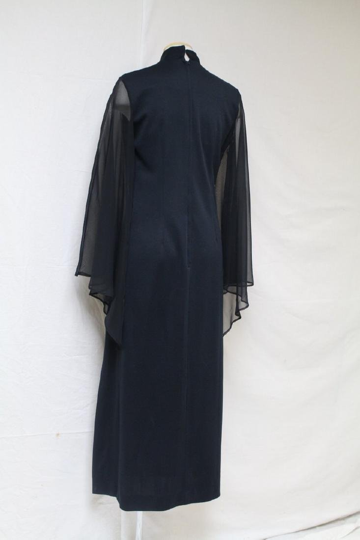 Vintage 1970s Shaheen Angel Sleeve Dress - 3