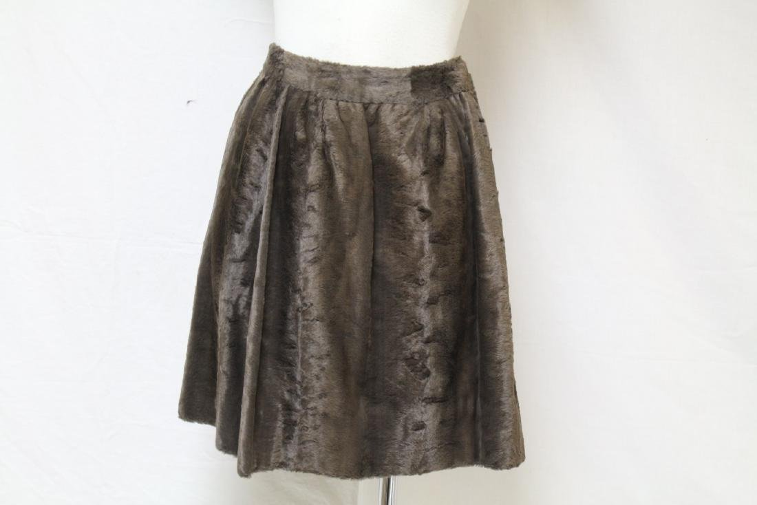 Vintage 1970s Geno California Plush Mini Skirt