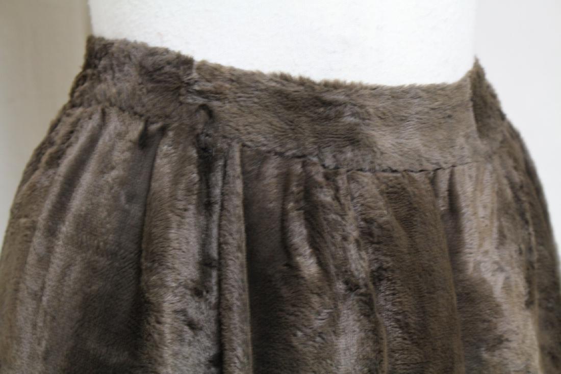 Vintage 1970s Geno California Plush Mini Skirt - 2