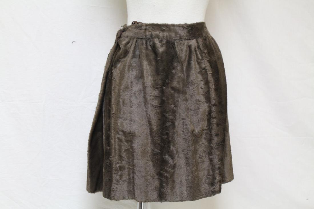 Vintage 1970s Geno California Plush Mini Skirt - 3