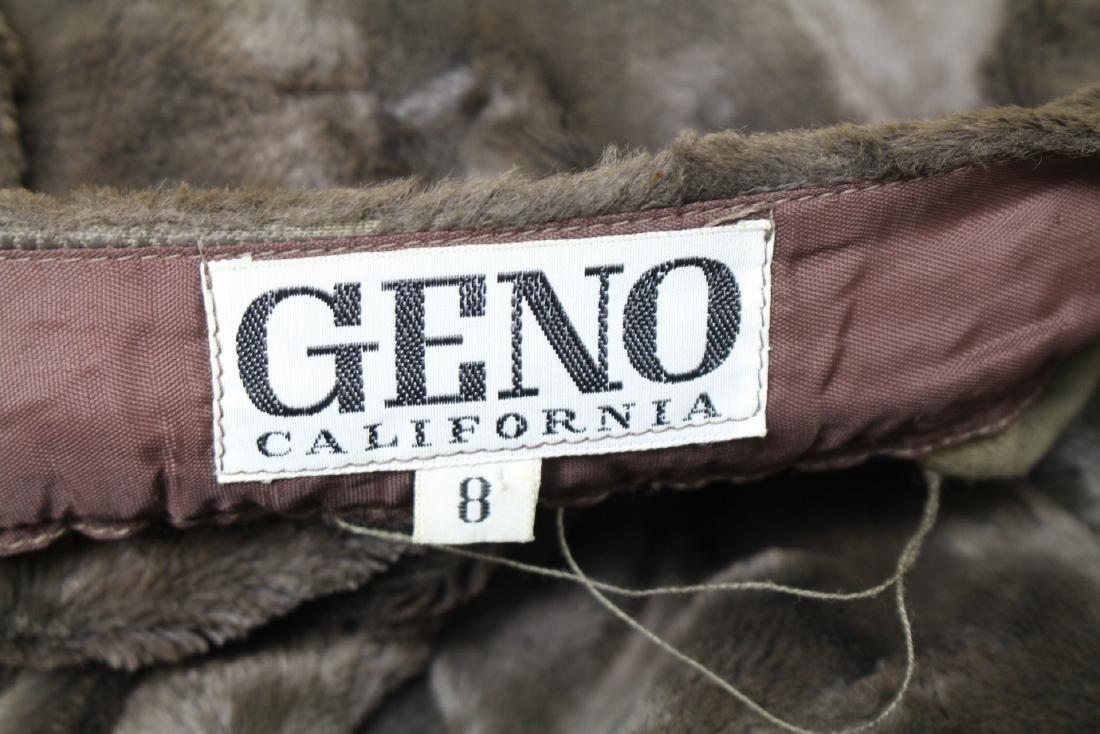 Vintage 1970s Geno California Plush Mini Skirt - 4