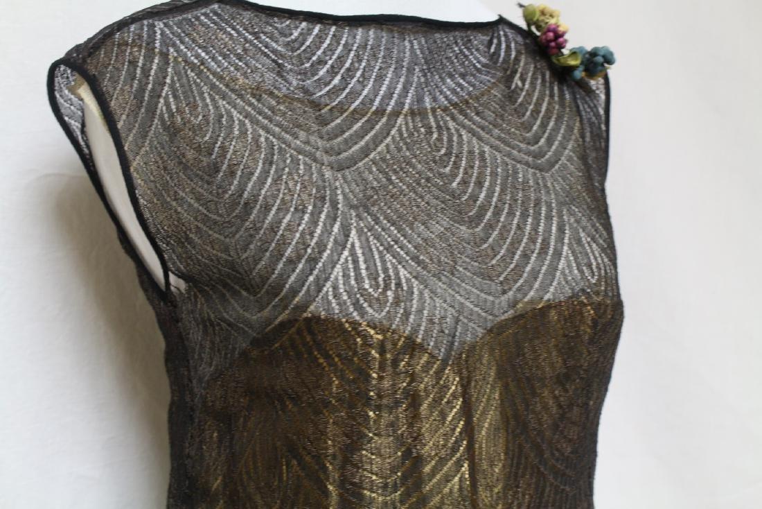Vintage 1920s Gold & Black Flapper Dress - 2