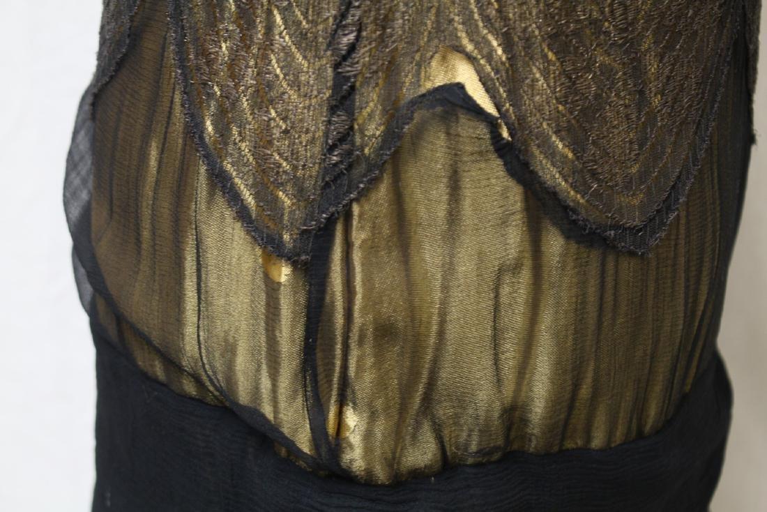 Vintage 1920s Gold & Black Flapper Dress - 3