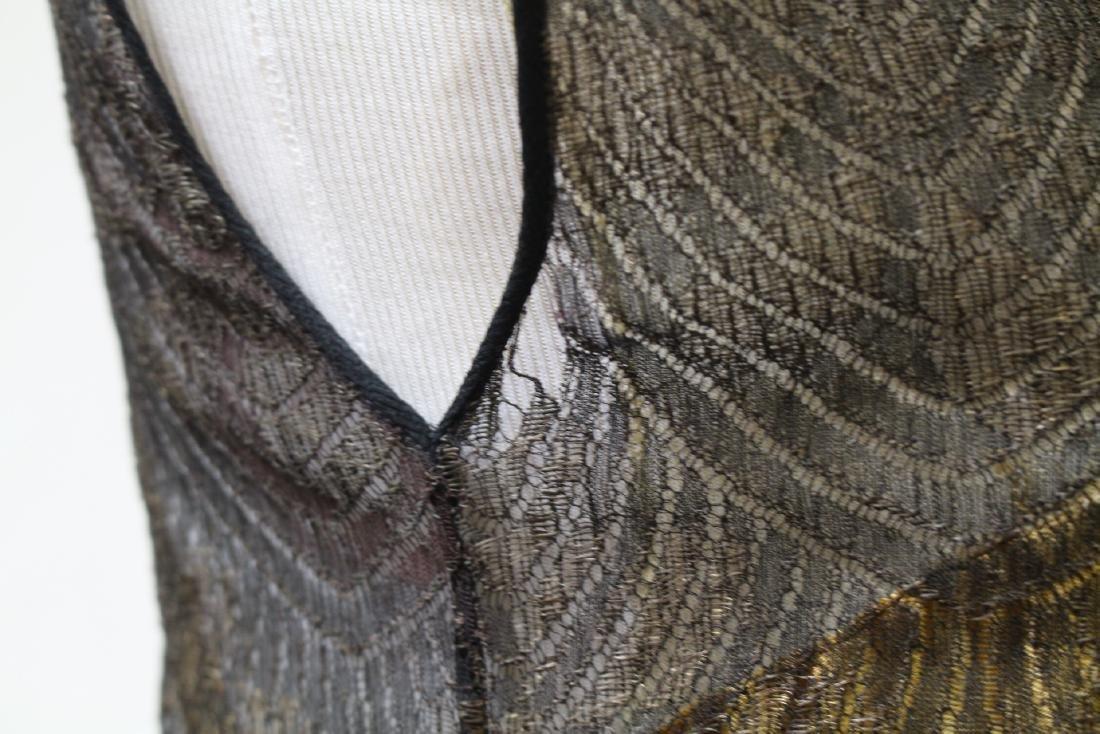 Vintage 1920s Gold & Black Flapper Dress - 6
