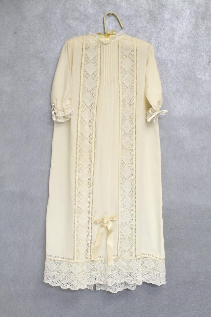 Vintage 1920s Silk & Lace Baby Gown