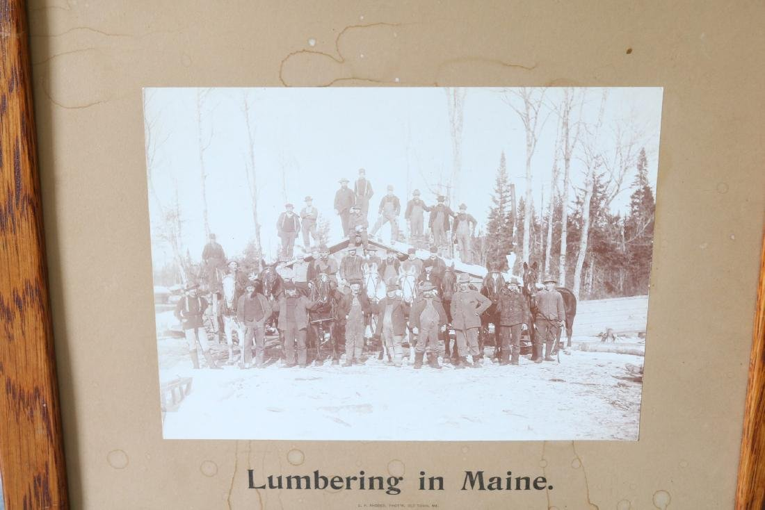 Antique Lumbering in Maine Photograph