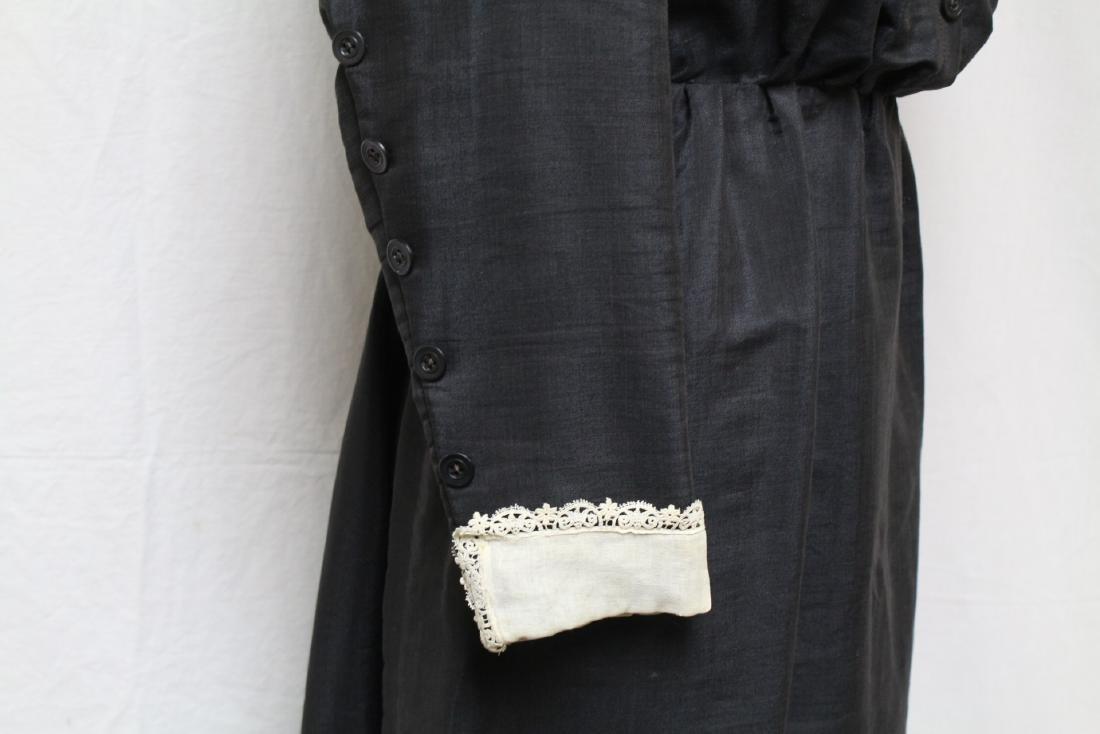 Antique 1900s Black Long Sleeve Dress - 3