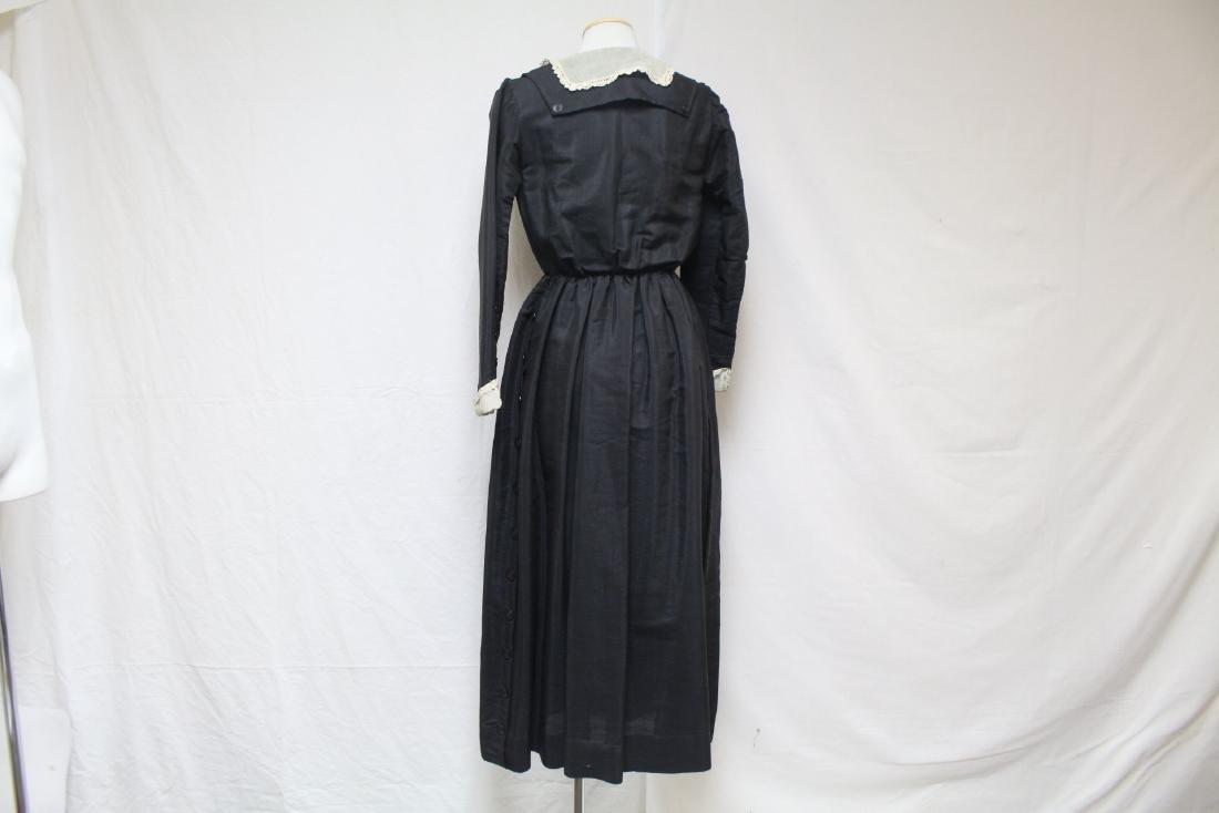 Antique 1900s Black Long Sleeve Dress - 4