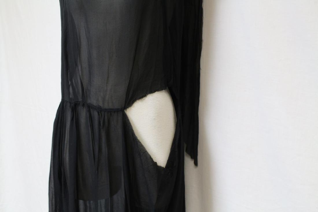 Vintage 1920s Black Chiffon Dress - 3