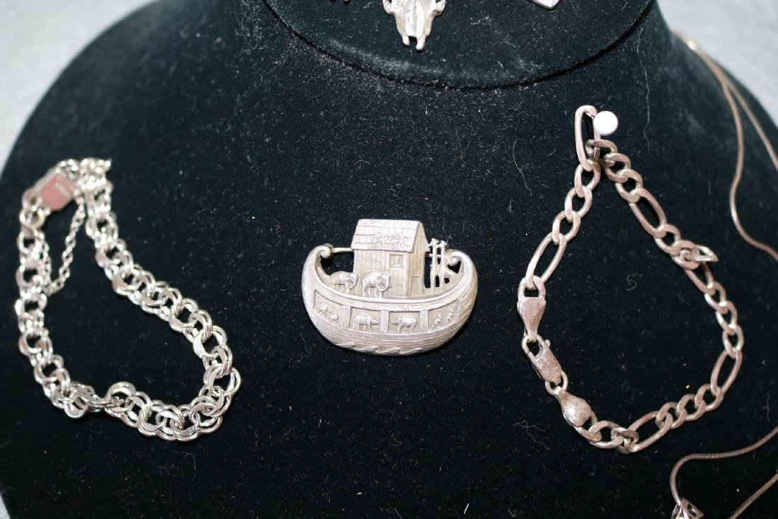 Lot of Vintage Sterling Jewelry - 3