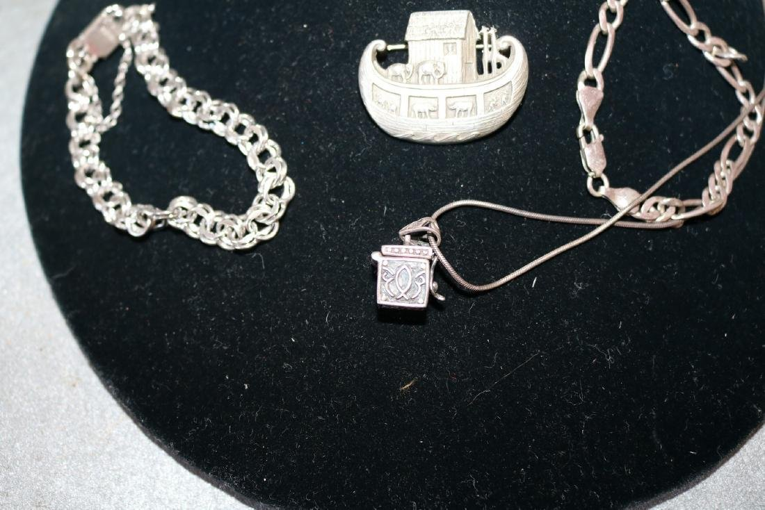 Lot of Vintage Sterling Jewelry - 4