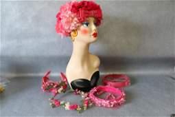 Lot of Ladies Vintage Floral Hats & Fascinators