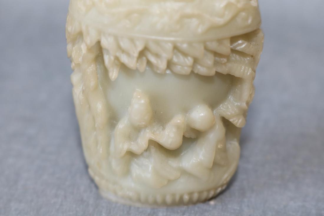 Hand Carved Vintage Snuff Bottle - 2