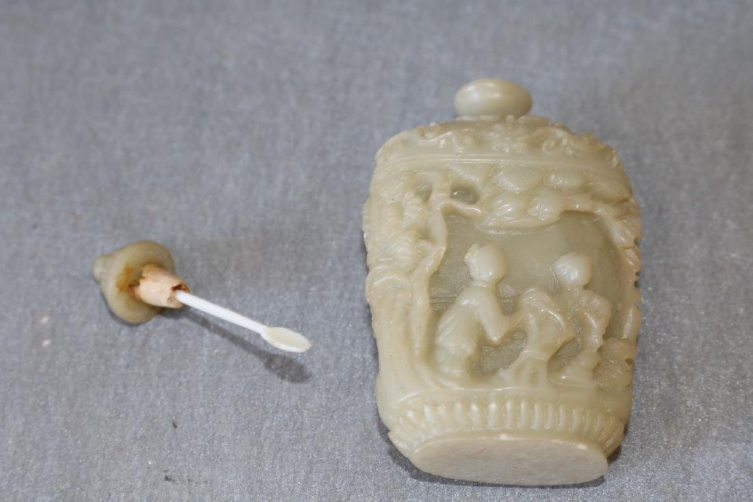 Hand Carved Vintage Snuff Bottle - 5