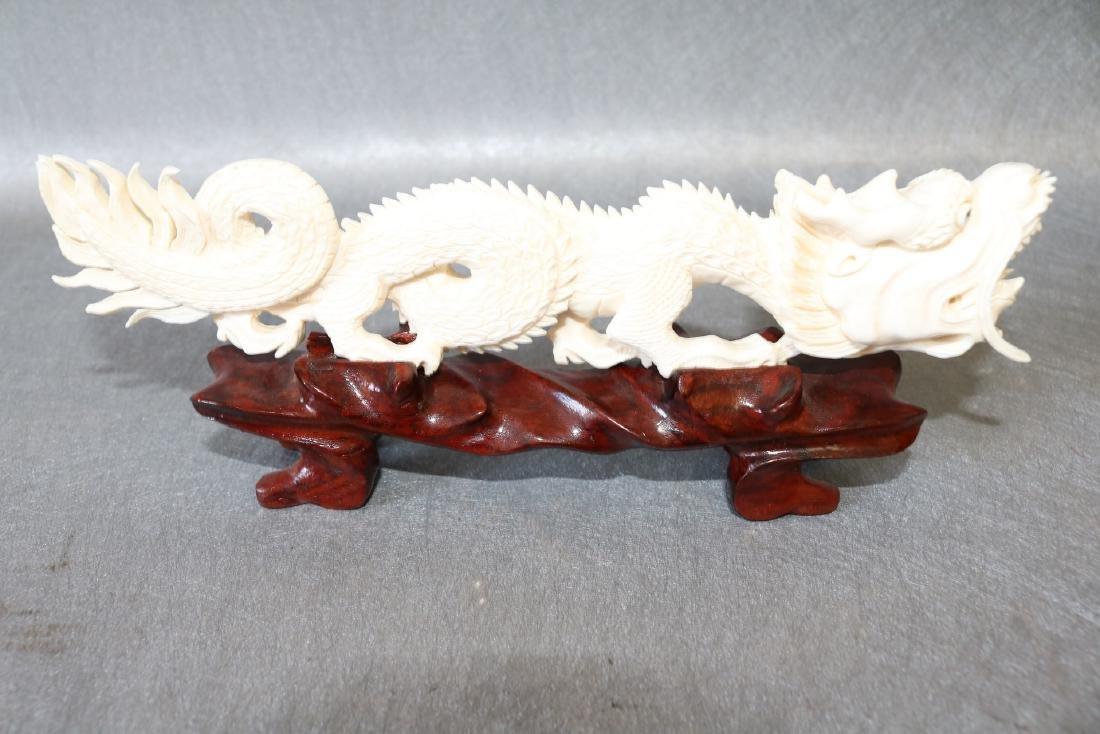 Vintage Carved Bone Dragon