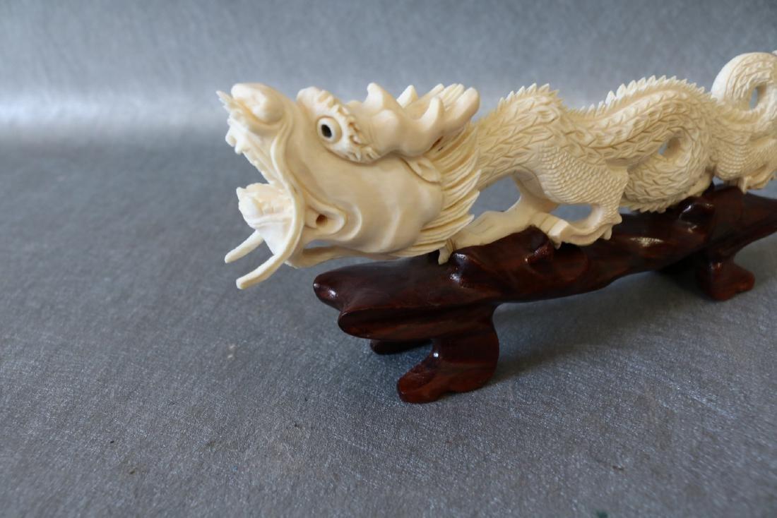 Vintage Carved Bone Dragon - 3