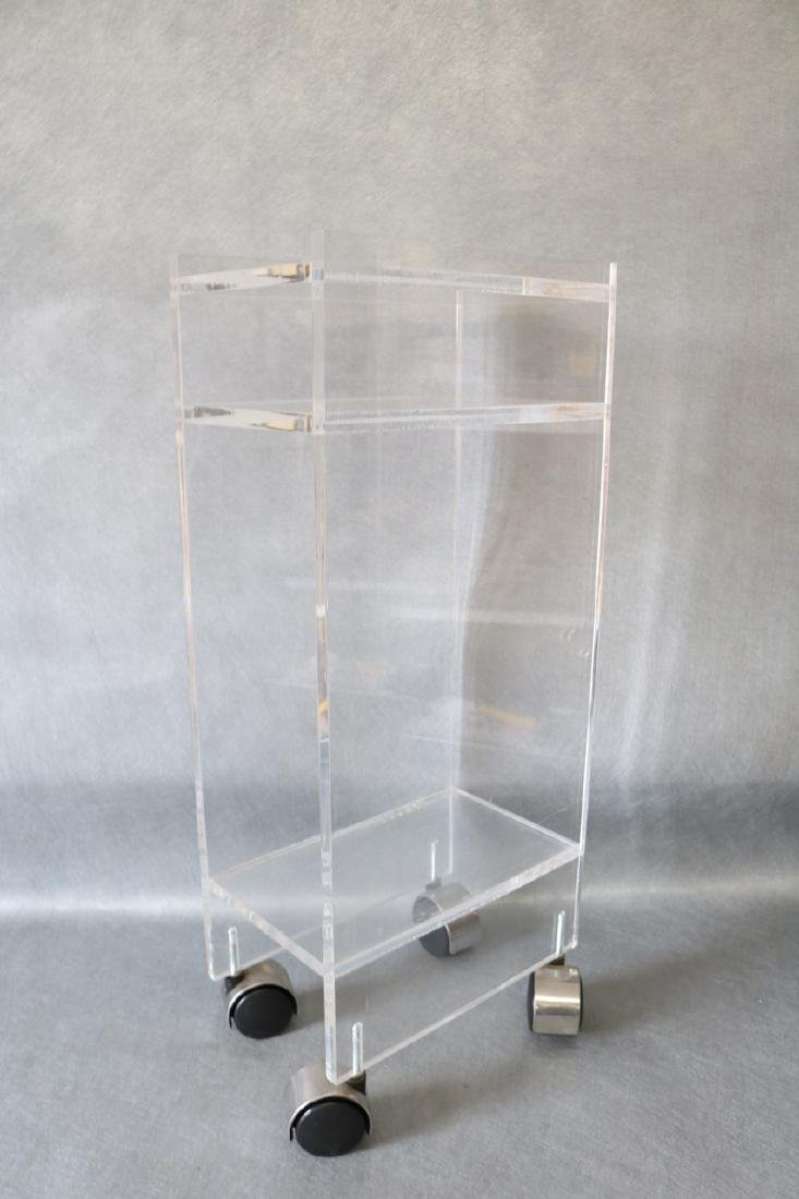 Vintage Lucite Rolling Stand/Table