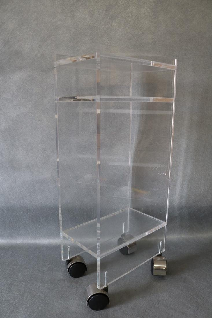 Vintage Lucite Rolling Stand/Table - 2