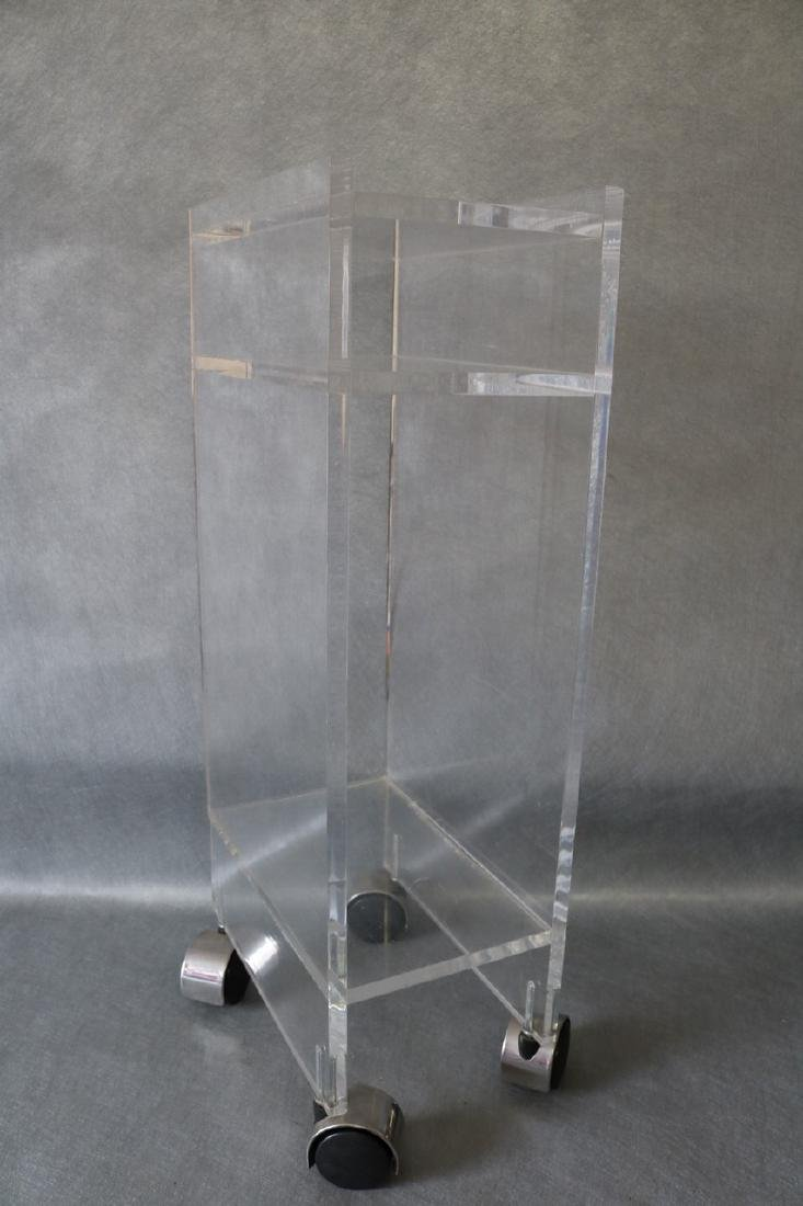 Vintage Lucite Rolling Stand/Table - 3