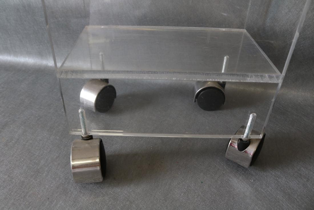 Vintage Lucite Rolling Stand/Table - 4