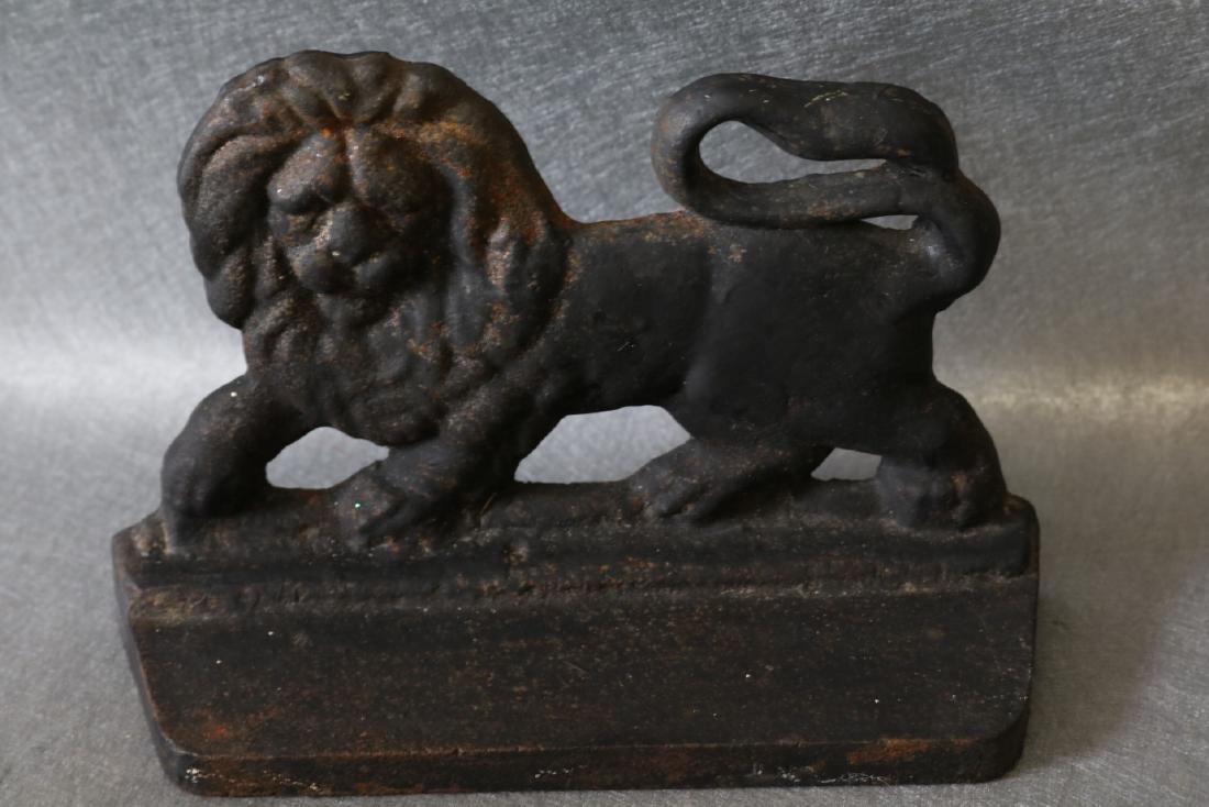 Antique Cast Iron Lion Doorstop