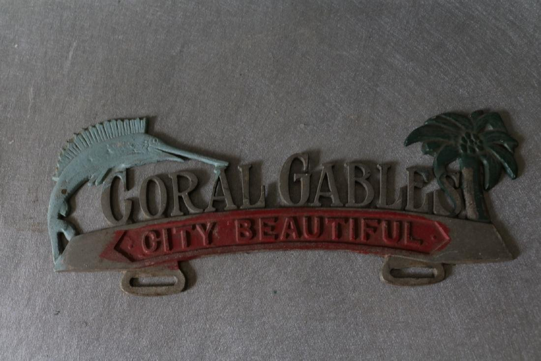 Vintage Coral Gables City Beautiful License Plate