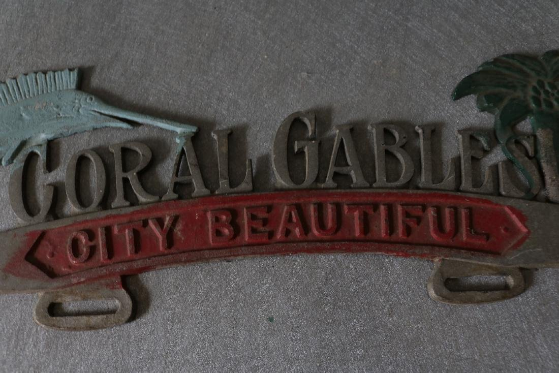Vintage Coral Gables City Beautiful License Plate - 2