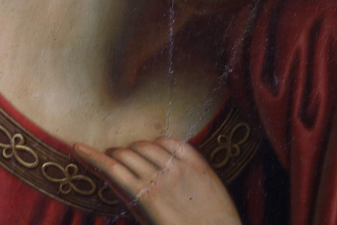 Antique Oil on Canvas, Holy Mother & Child - 8