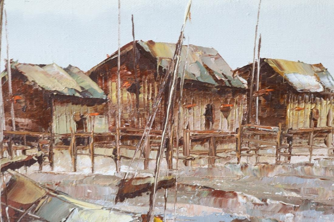 P. Wong, Oil on Canvas, Asian Seascape - 3