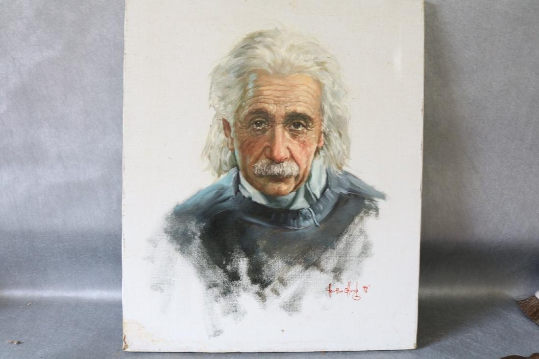 Oil Painting of Einstein, 1978
