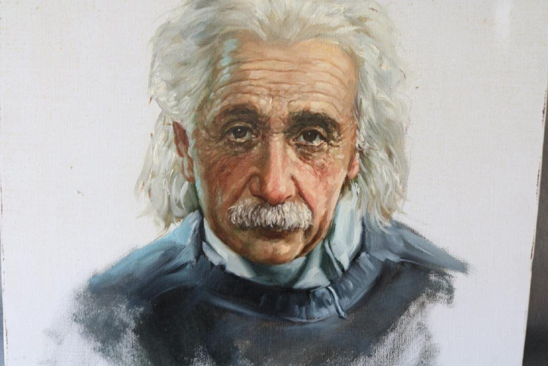 Oil Painting of Einstein, 1978 - 2