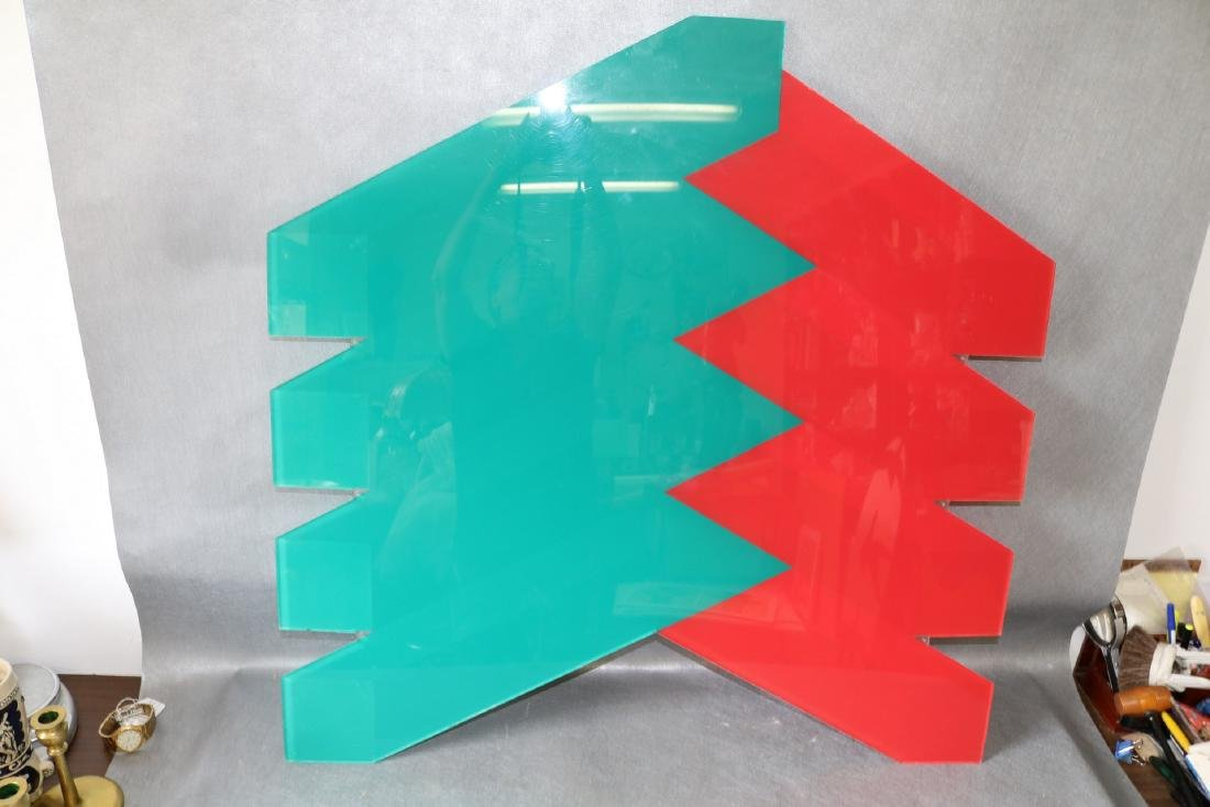 Mid-Century Lucite Wall Art by J. Gerber - 3