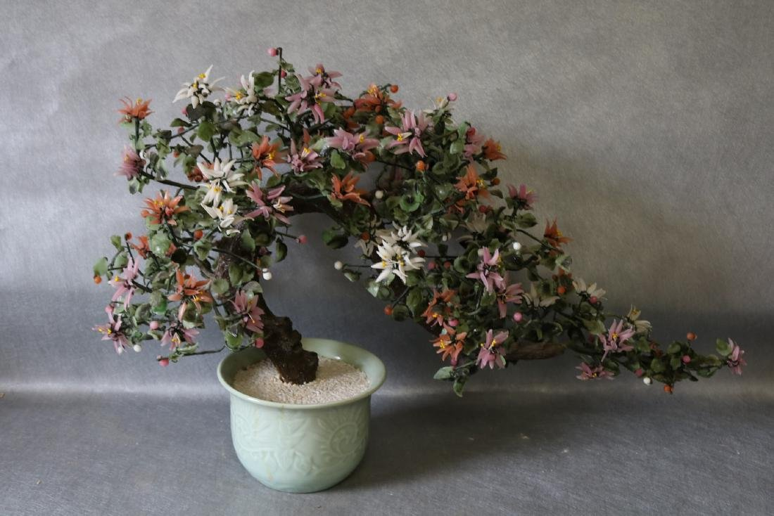 Large Asian Artificial Floral Tree in Celadon Green