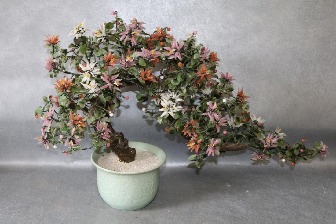 Large Asian Artificial Floral Tree in Celadon Green - 2