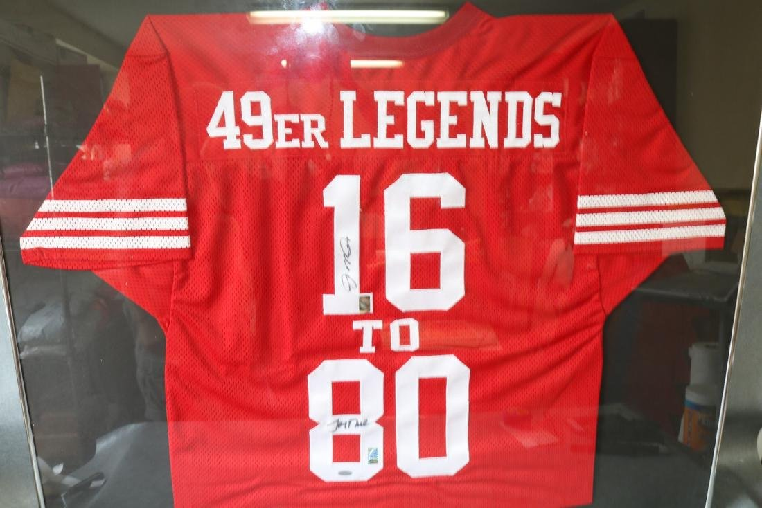 Official 49er Legends  Autographed Football Jersey