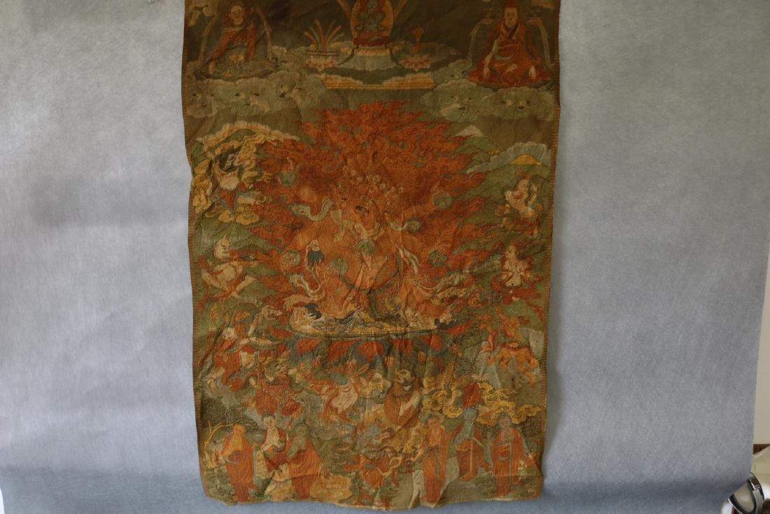 Vintage Asian Tang Ka Tapestry