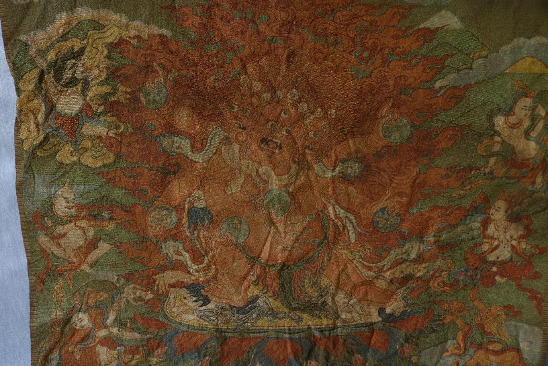 Vintage Asian Tang Ka Tapestry - 2
