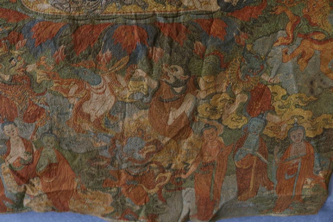 Vintage Asian Tang Ka Tapestry - 3