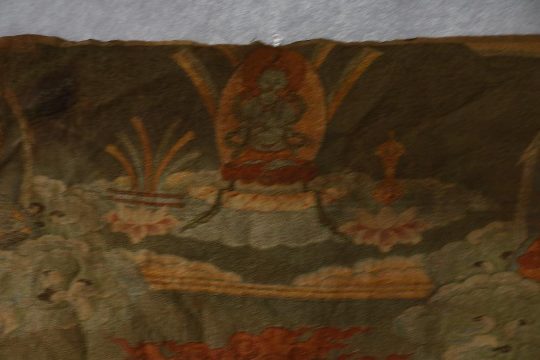 Vintage Asian Tang Ka Tapestry - 5