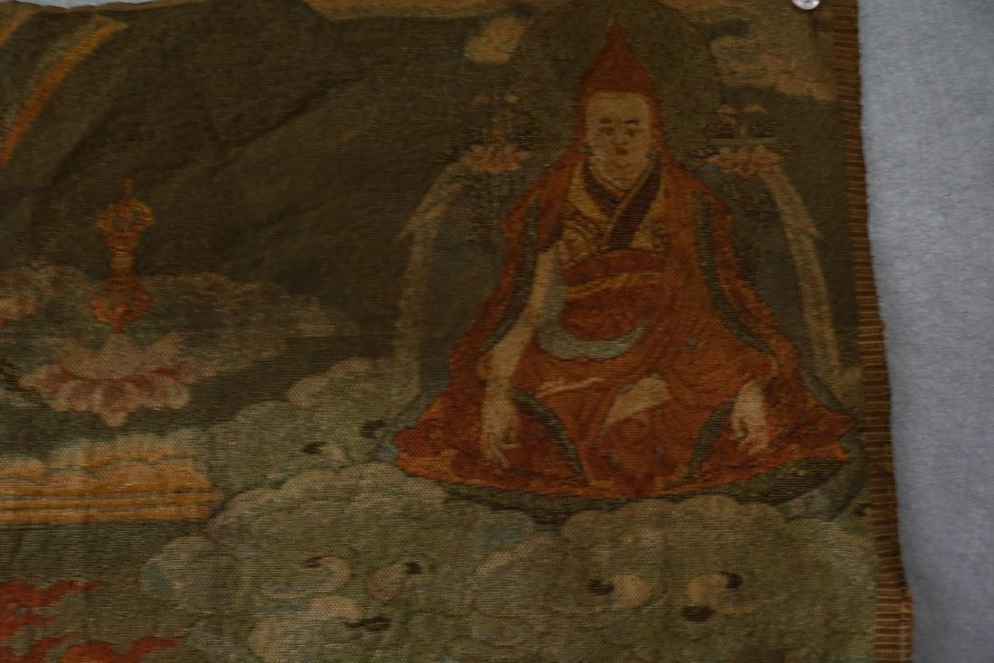 Vintage Asian Tang Ka Tapestry - 6