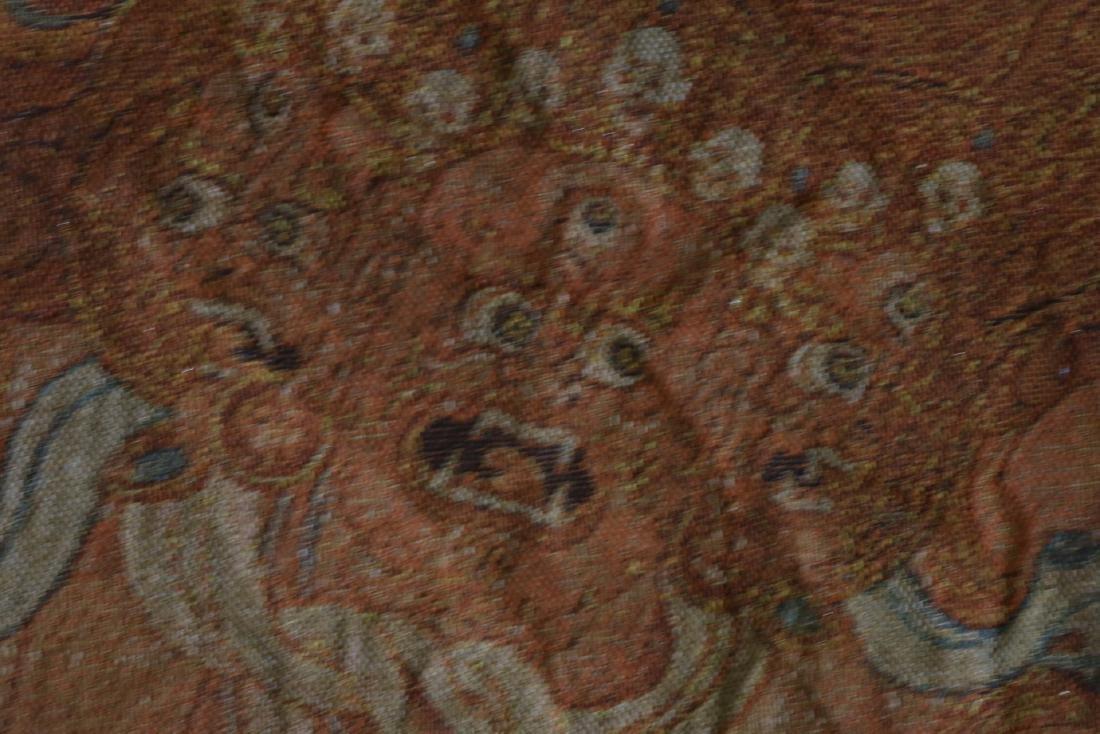Vintage Asian Tang Ka Tapestry - 7