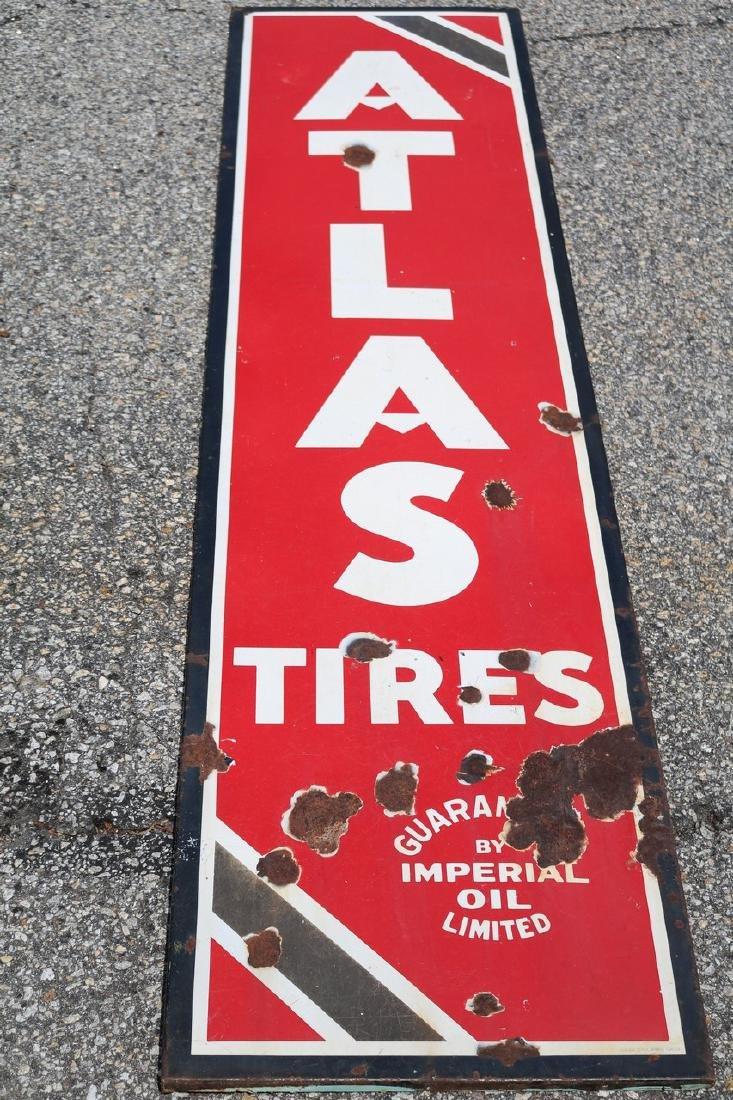 "Vintage Enamel ""Atlas Tires"" Advertising sign"