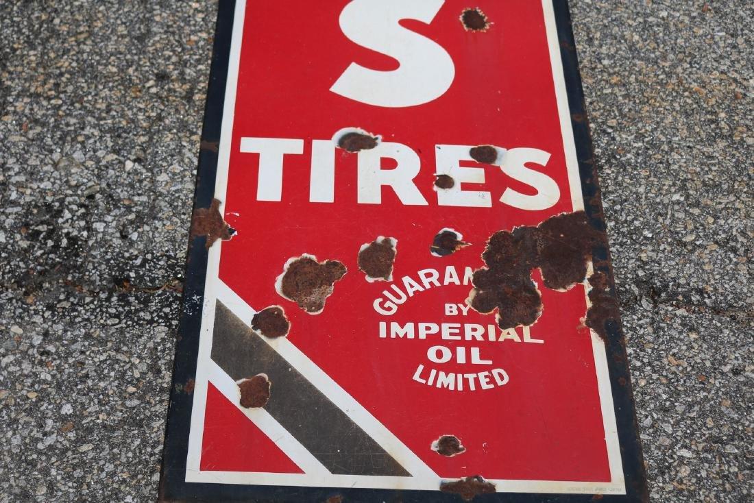 "Vintage Enamel ""Atlas Tires"" Advertising sign - 2"